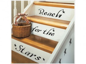 Removable Home decor. Perfect for renters, inspirational and versatile.