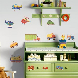 Transportation wall decals, kids and nursery room ideas for your boy.
