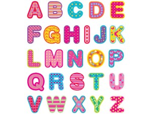 Boscobear Bright alphabet wall stickers