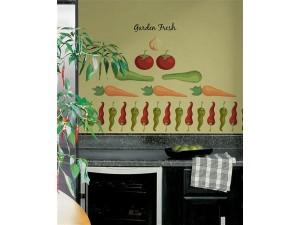 garden vegetables wall stickers