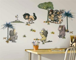 where the wild things are wall stickers