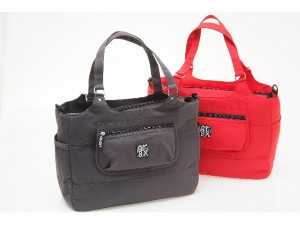 gr8x Tiffany Tote in Charcoal and Red
