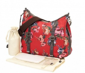 Red English Rose Classic Hobo