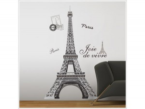 Eiffel tower mural