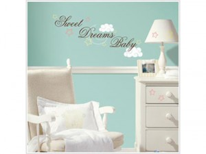 sweet dreams nursery wall quote