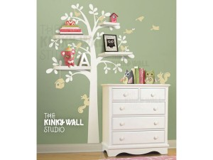 Tree shelf wall decals