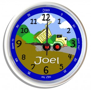 Tipper-personalised-wall-clock