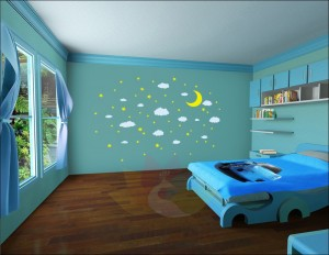 Wall Craft celestial wall stickers