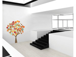 Tree of Seasons Peel & Stick Removable Home Wall Sticker set