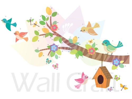 Wall Craft Bird House Bright