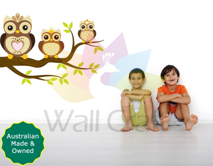 - Wall Craft Hootie Owl - Neutral - Kids Nursery Wall Decals