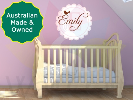 - Wall Craft Custom Made Monogram - Girls Wall Sticker - Choose Your Own Name, Size, Shape & Colours
