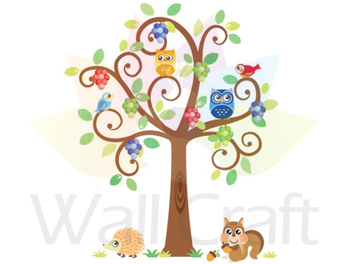 Wall Craft Tree Whimsical - Blues